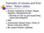 examples of utopias and their fates nation states