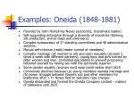 examples oneida 1848 1881