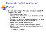 general conflict resolution cont