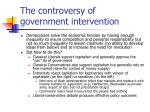 the controversy of government intervention