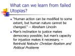 what can we learn from failed utopias