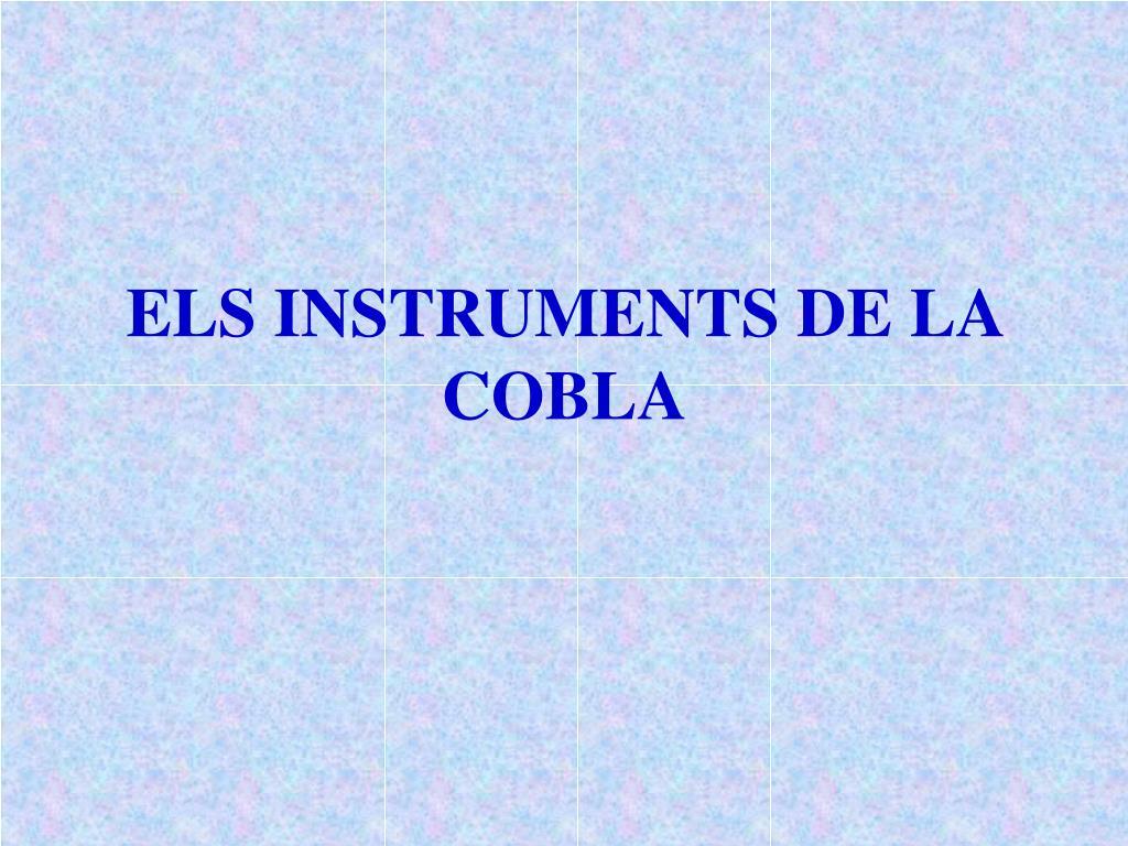 els instruments de la cobla l.