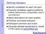 defining indicators