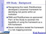 kri study background