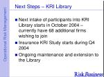 next steps kri library