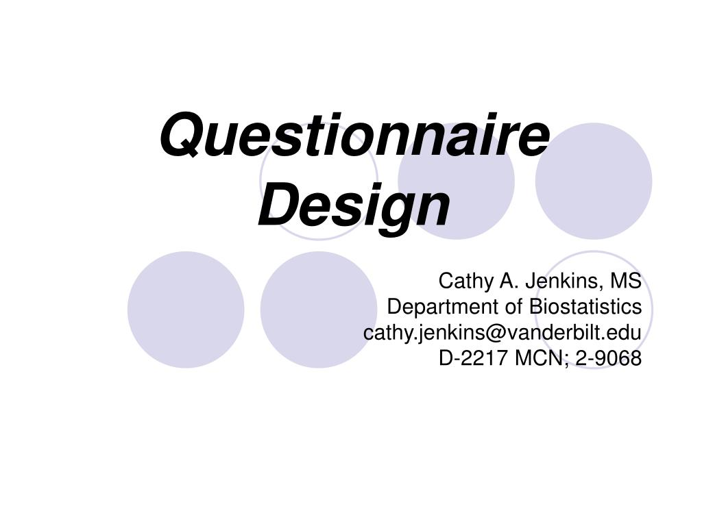 questionnaire design l.
