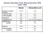 clinical outcomes from worcestershire eis smith 2006