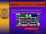 corso di metodologia della comunicazione formativa