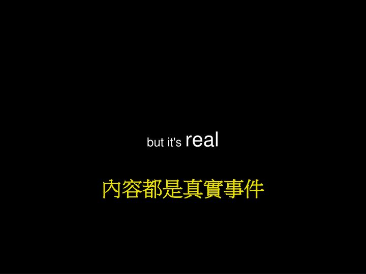 But it's
