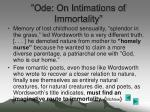 ode on intimations of immortality
