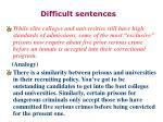 difficult sentences