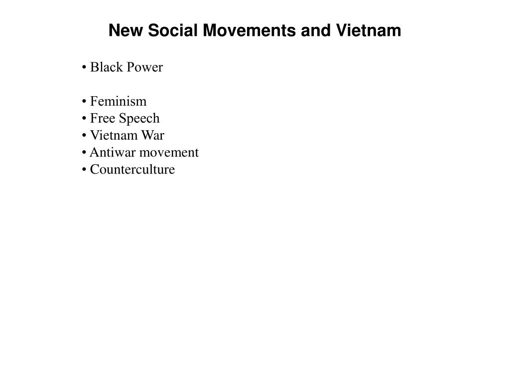 new social movements and vietnam l.