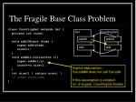 the fragile base class problem12