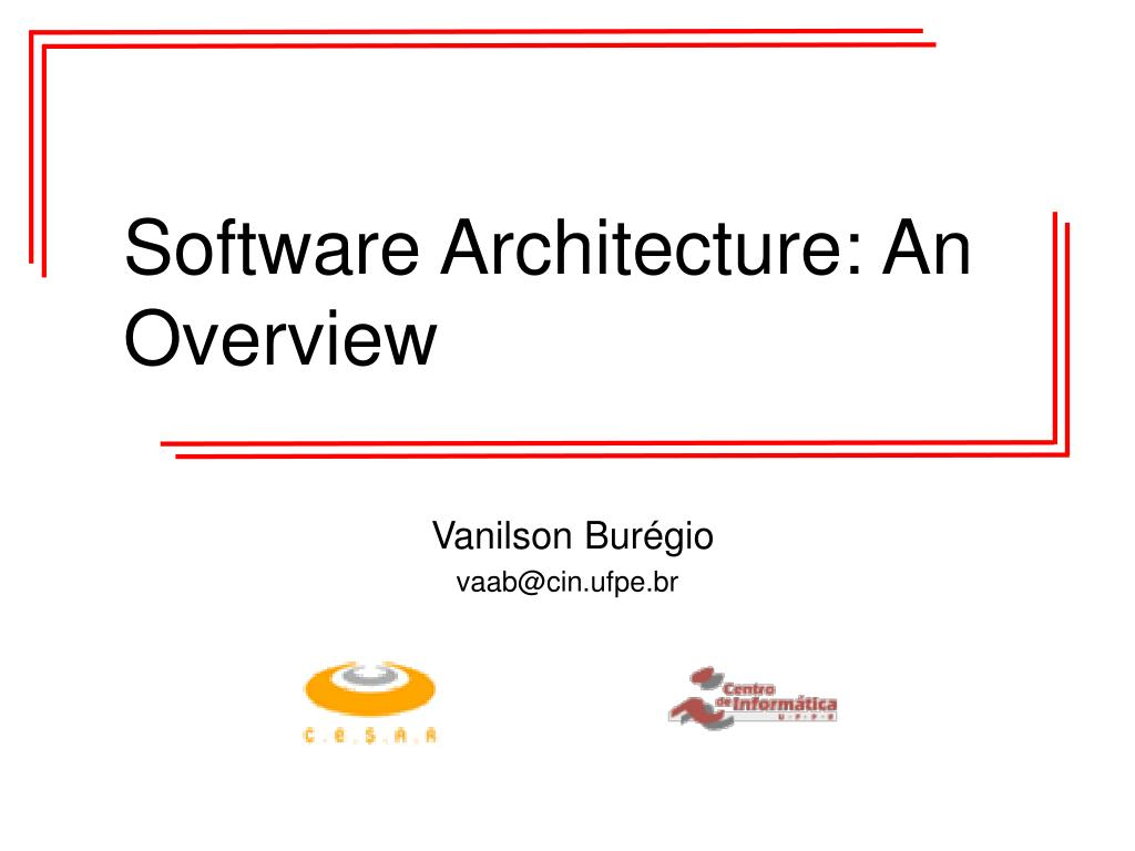 software architecture an overview l.