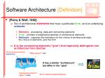 software architecture definition10