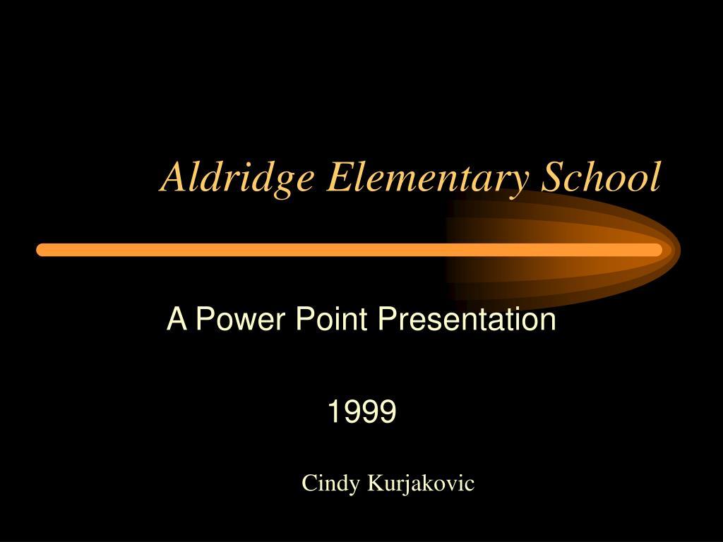 aldridge elementary school l.