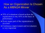 how an organization is chosen as a mbnqa winner