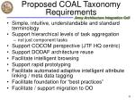 proposed coal taxonomy requirements