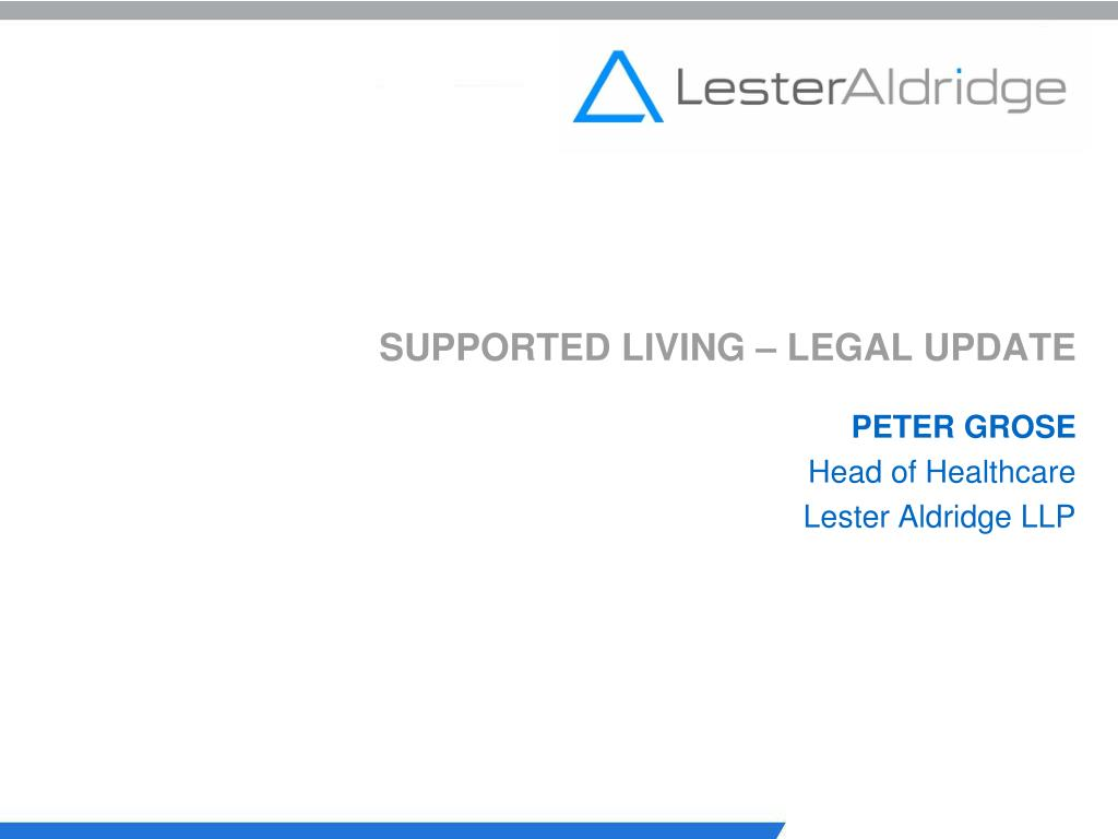 supported living legal update l.