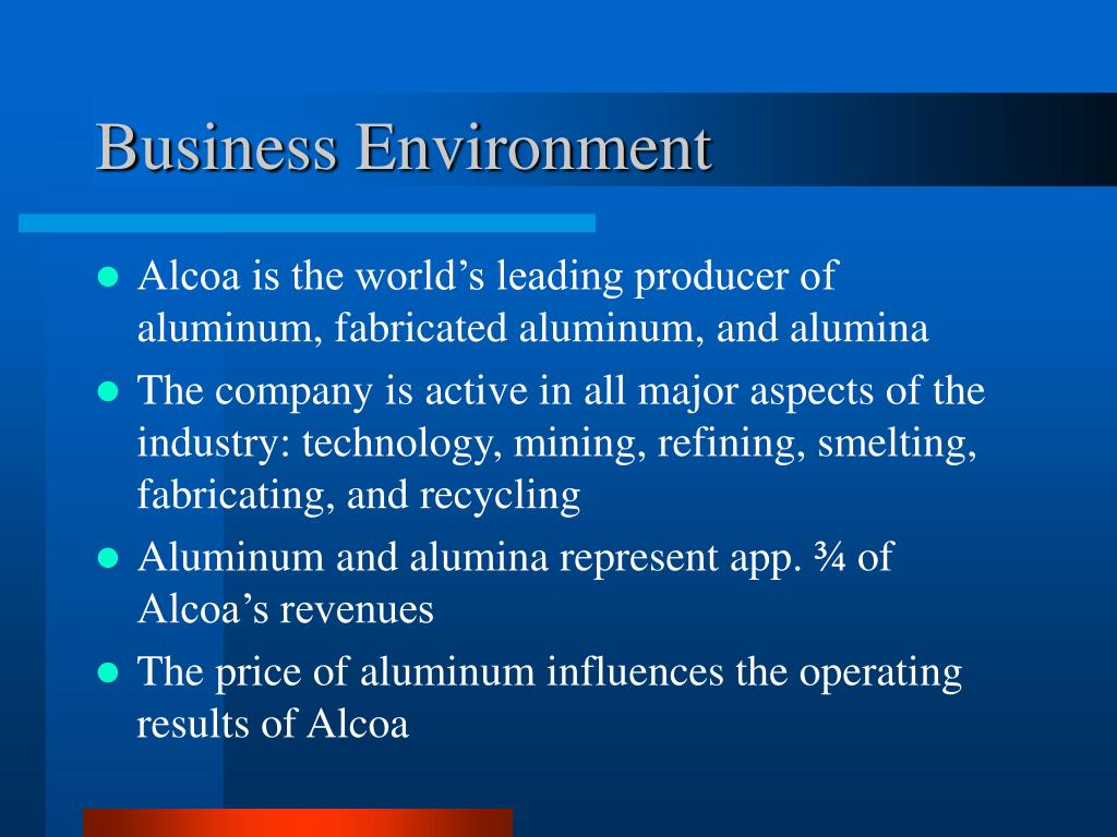 PPT - Valuation of Alcoa Inc   PowerPoint Presentation - ID