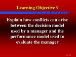 learning objective 9