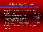 make or buy decisions34