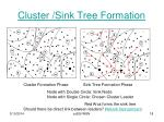 cluster sink tree formation