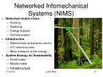 networked infomechanical systems nims