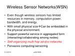 wireless sensor networks wsn