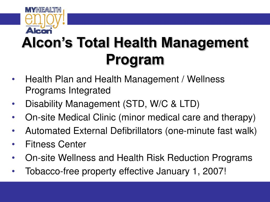 Alcon's Total Health Management Program