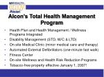 alcon s total health management program
