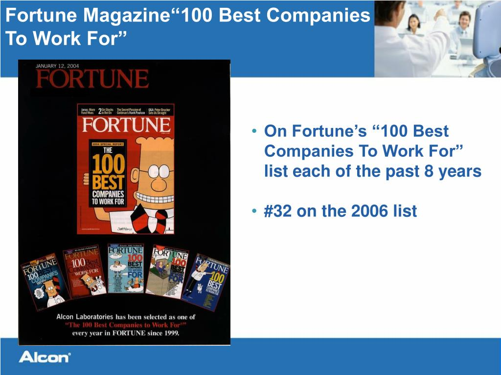 "Fortune Magazine""100 Best Companies"
