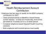 health reimbursement account contribution