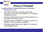 privacy is protected