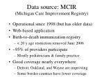 data source mcir michigan care improvement registry