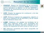 resumen de las reformas