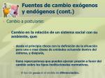 fuentes de cambio ex genos y end genos cont28