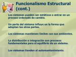 funcionalismo estructural cont