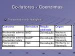 co fatores coenzimas108