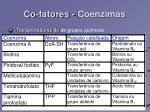 co fatores coenzimas109