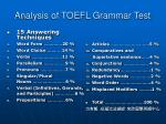 analysis of toefl grammar test38