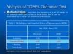 analysis of toefl grammar test39