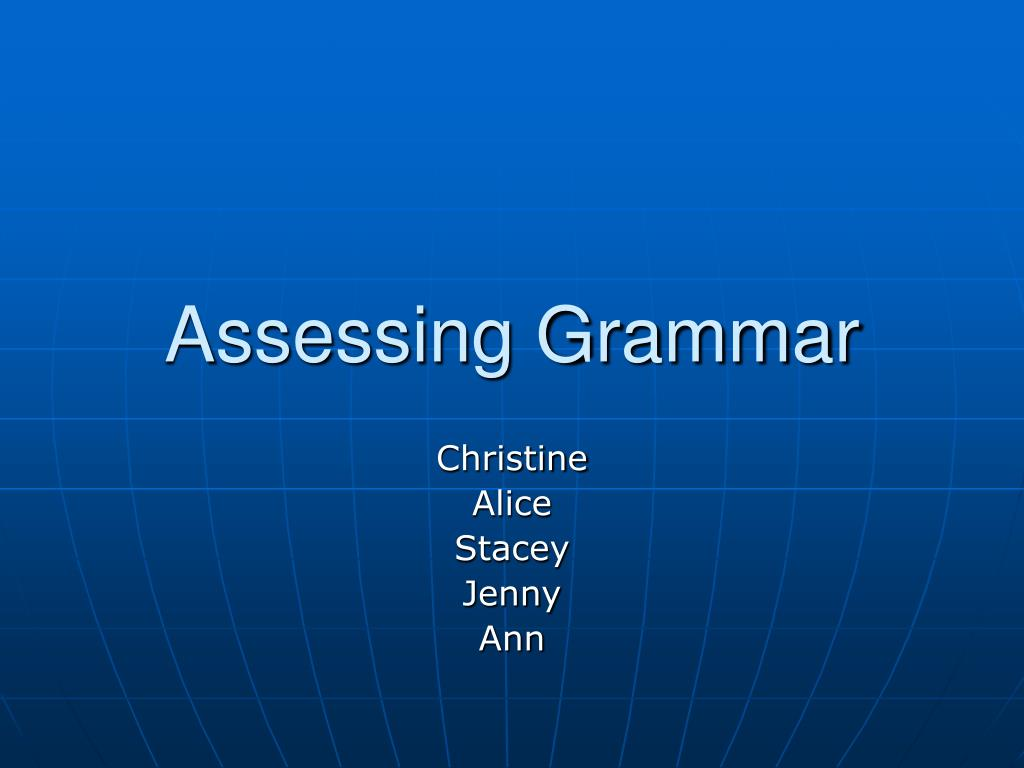 assessing grammar l.