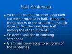split sentences
