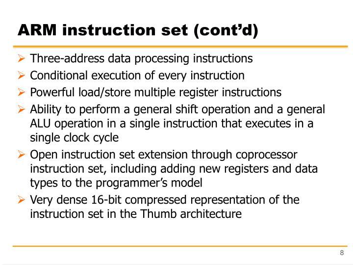 Ppt Arm Introduction Instruction Set Architecture Powerpoint