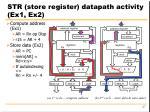 str store register datapath activity ex1 ex2
