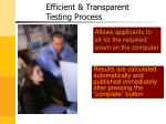 efficient transparent testing process