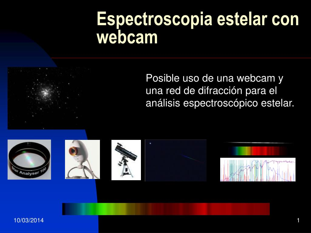espectroscopia estelar con webcam l.
