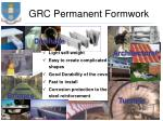 grc permanent formwork