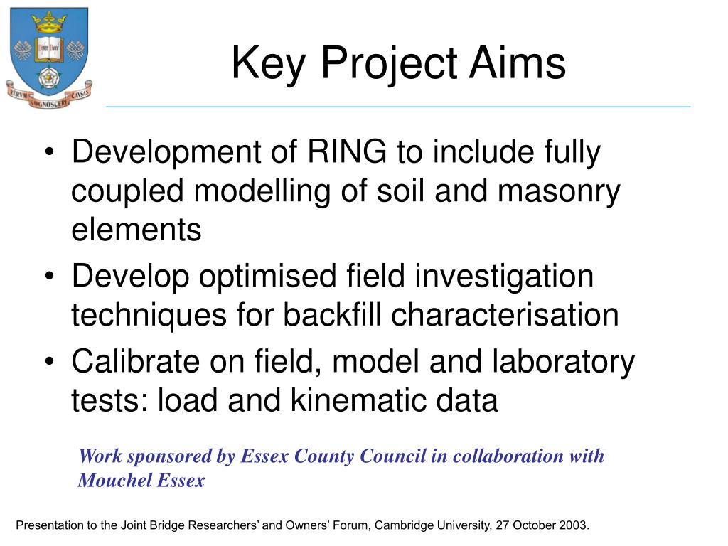 Key Project Aims